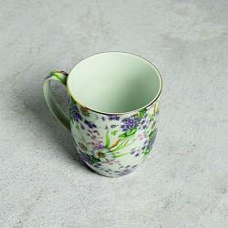 Taza Porcelana China Violetas (Pack de 6 unidades)