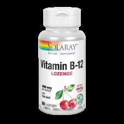 Vitamina B12 Con Ácido Fólico 1000 Mcg- 90 Comprimidos Sublinguales. Sin Gluten. Apto Para Veganos - Solaray