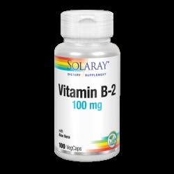 Vitamina B2 - 100 VegCaps. Apto Para Veganos - Solaray