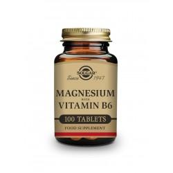 Magnesio + Vitamina B6 - 100 Comprimidos - Solgar