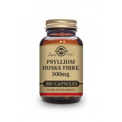 Fibra de Cáscara de Psyllium 500 mg - 200 cápsulas - Solgar