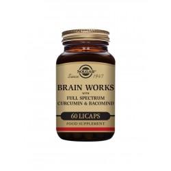 Brain Works con Full Spectrum Cúrcuma y BacoMind - 60 caps - Solgar
