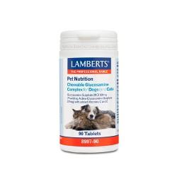 Complejo de Glucosamina Masticable 90 tabletas - Lamberts