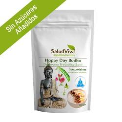Salud Viva - HAPPY DAY BUDHA CON PROTEÍNAS (Prebiótico sin Azúcares Añadidos) 350g